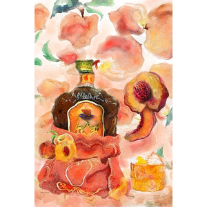 Crown Royal Peach Painting Fine Art Prints
