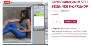 Beginner Corel Painter Workshop Asheville NC SOLD OUT