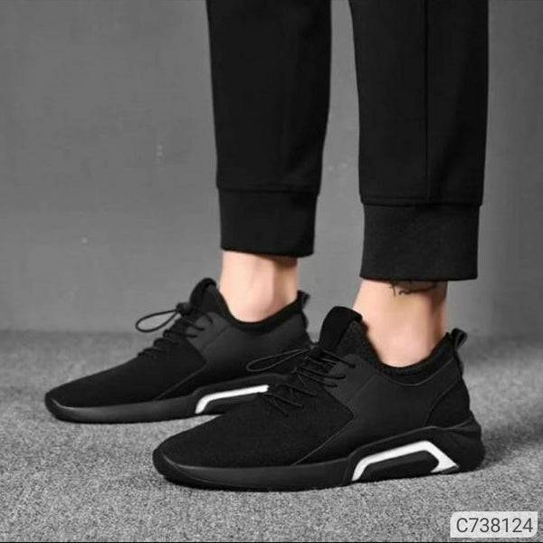 Eva Solid Black Casual Sneakers