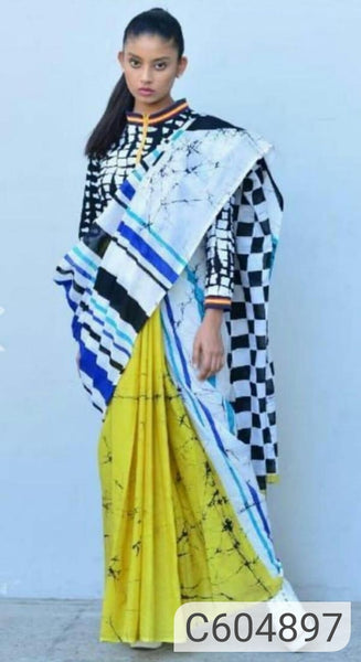 Latest Cotton Mulmul Block Printed Sarees