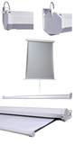 Wall Mounted Professional Pull Down Passport Screen - PASSPORT GREY