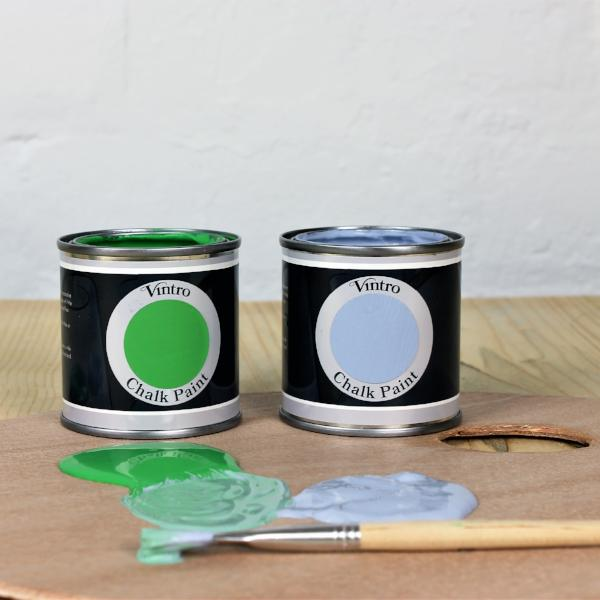 Adding water to your Vintro Chalk Paint for a smooth finish