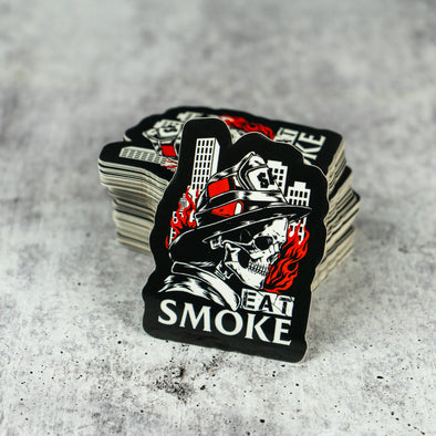 """Eat Smoke"" Sticker - Salt Actual"
