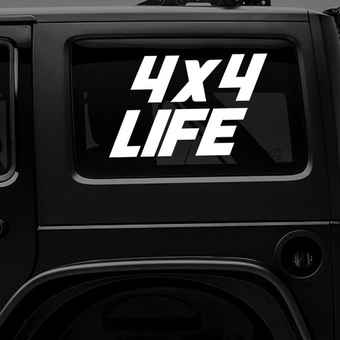4x4 LIFE - Vinyl Decal/Sticker - BRAPSports.com - Stickers & Decals