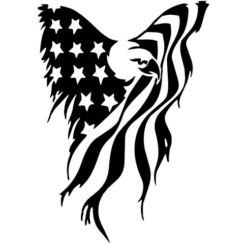 🇺🇸 American Eagle Flag - Vinyl Decal/Sticker