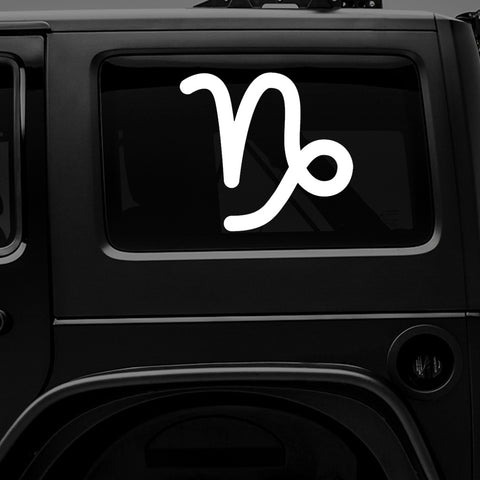 ♑ Capricorn Zodiac Sign - Premium Vinyl Decal