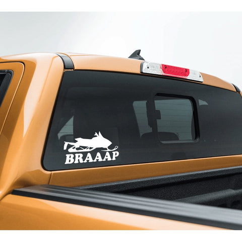 BRAAAP SLED - Vinyl Decal/Sticker - BRAPSports.com - Stickers & Decals