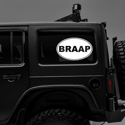 BRAAP OVAL - Vinyl Decal/Sticker - BRAPSports.com - Stickers & Decals