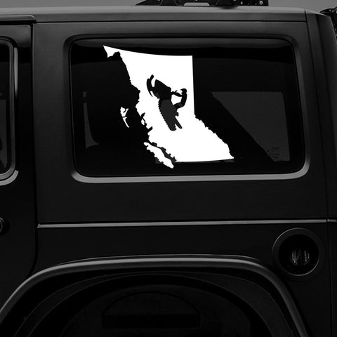 BRITISH COLUMBIA SLED - Vinyl Decal/Sticker - BRAPSports.com - Stickers & Decals
