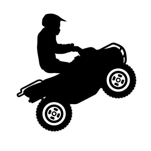 CLASSIC UTILITY QUAD - Vinyl Decal/Sticker - BRAPSports.com - Stickers & Decals
