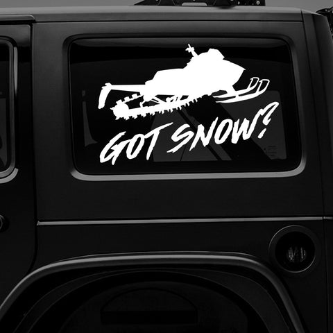 GOT SNOW? SLED ULTIMATE - Premium Vinyl Decal/Sticker - BRAPSports.com - Stickers & Decals