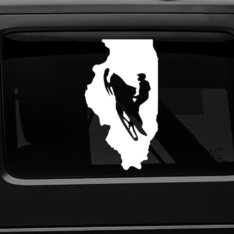 ILLINOIS SNOWMOBILE - PREMIUM VINYL DECAL