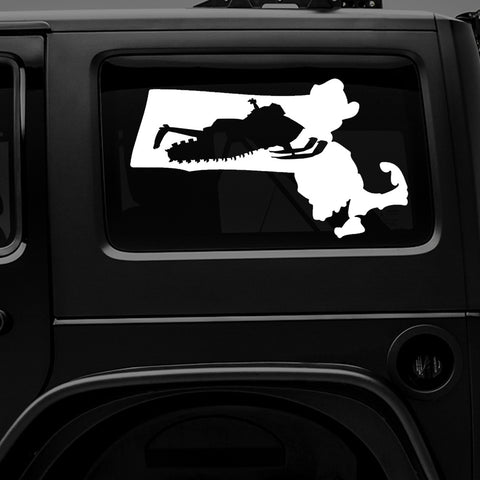 MASSACHUSETTS SNOWMOBILE - Premium Vinyl Decal