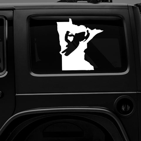 MINNESOTA SNOWMOBILE - PREMIUM VINYL DECAL