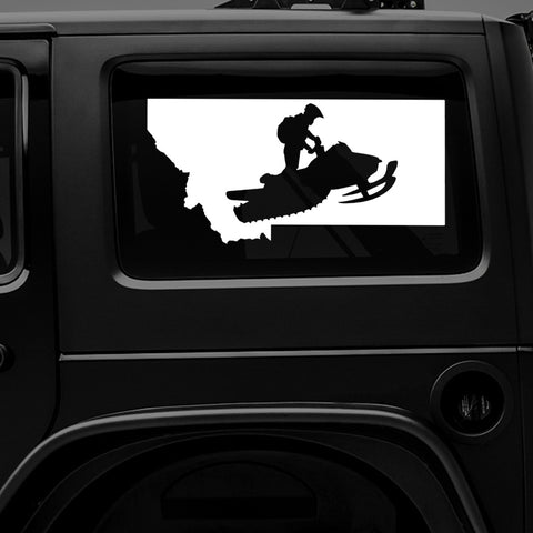 Montana Snowmobile - Premium Vinyl Decal