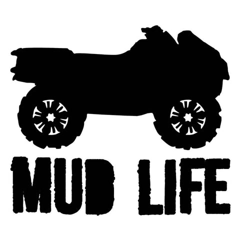 OUTLANDER MUD LIFE - Vinyl Decal/Sticker - BRAPSports.com - Stickers & Decals