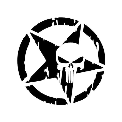 Punisher Skull Pentagram - Vinyl Decal/Sticker - BRAPSports.com - Stickers & Decals