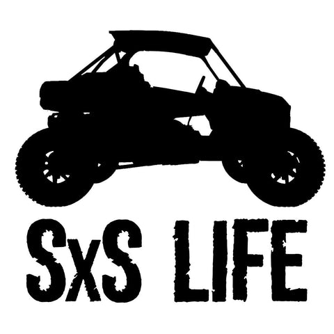 RZR SXS LIFE - Side by Side / UTV - Vinyl Decal/Sticker - BRAPSports.com - Stickers & Decals