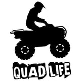 Utility ATV Quad Life - Vinyl Decal/Sticker - BRAPSports.com - Stickers & Decals