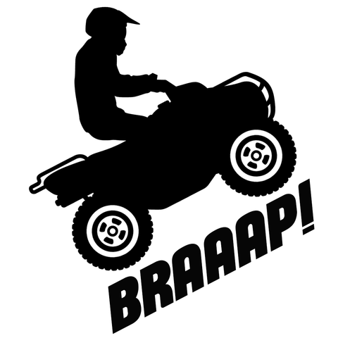 UTILITY QUAD ATV - Vinyl Decal/Sticker - BRAPSports.com - Stickers & Decals