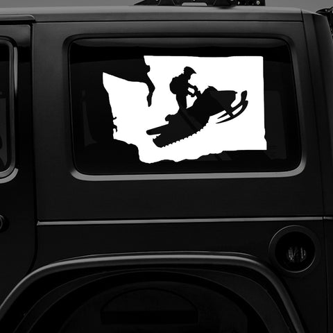 Washington Snowmobile - Premium Vinyl Decal