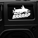 BRAAAP Snowmachine - Premium Vinyl Decal