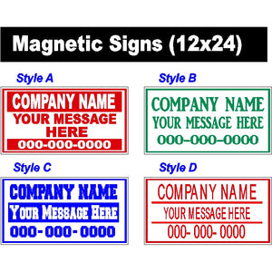 Magnetic Signs - Magnetic Sign