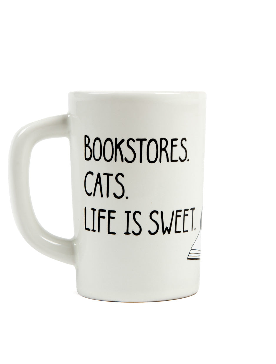Pre-Order: Bookstores. Cats. Life is Sweet Mug