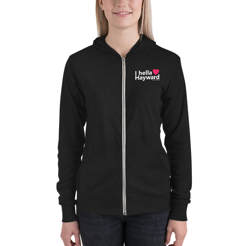 Hella Hayward Light Weight Unisex zip hoodie