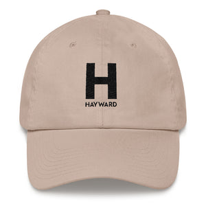 Hayward Embroidered Black Logo Baseball Cap