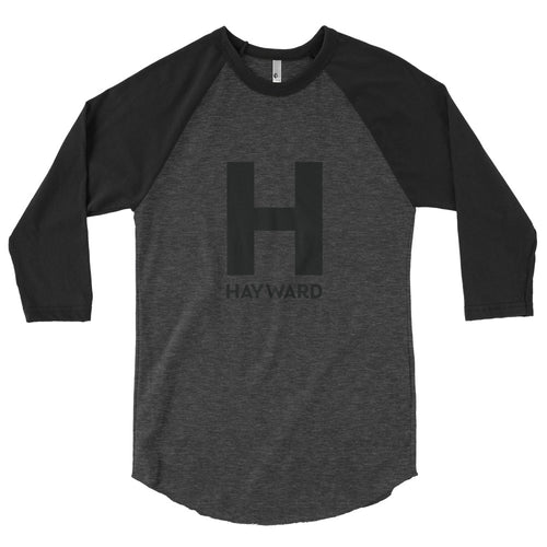Hayward Black Logo 3/4 sleeve raglan shirt
