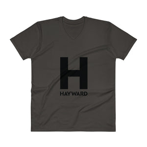 Hayward Black Logo Men's V-Neck T-Shirt