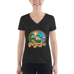 Hayward View Women's V-neck Tee