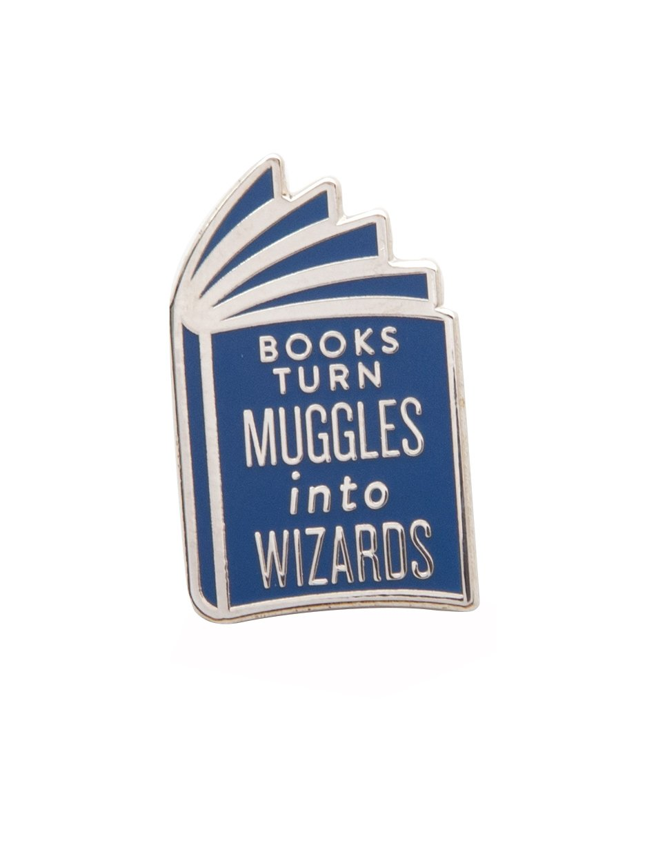 Pre-Order: Books Turn Muggles into Wizards Enamel Pin