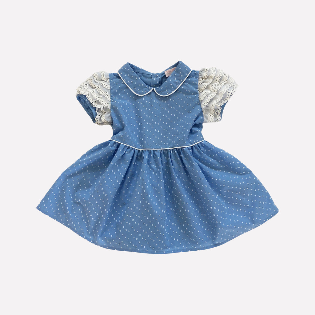 Emma Blue Swiss Dot Dress