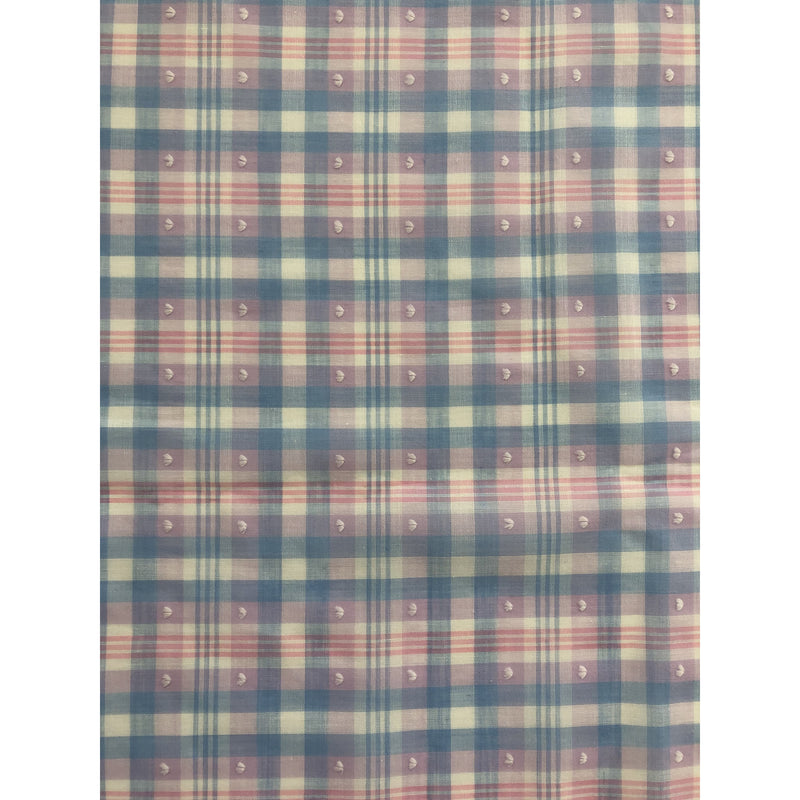 Custom Vintage Item - Plaid Swiss Dot