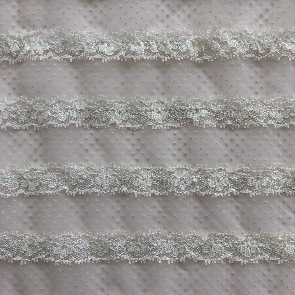 Custom Vintage Item - Sheer Flocked Lace