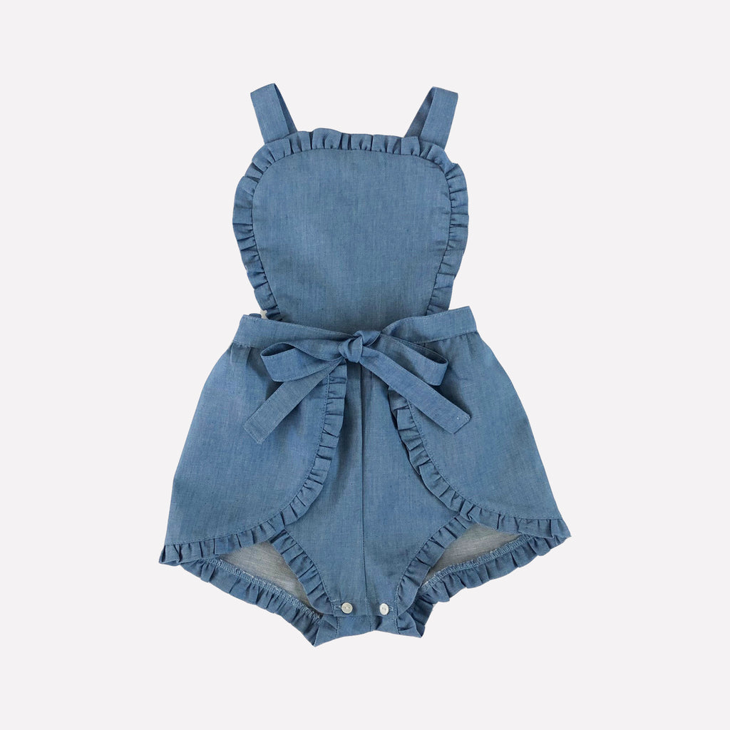Jane Denim Romper