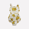 Harper Halter Golden Floral Swiss Dot Dress