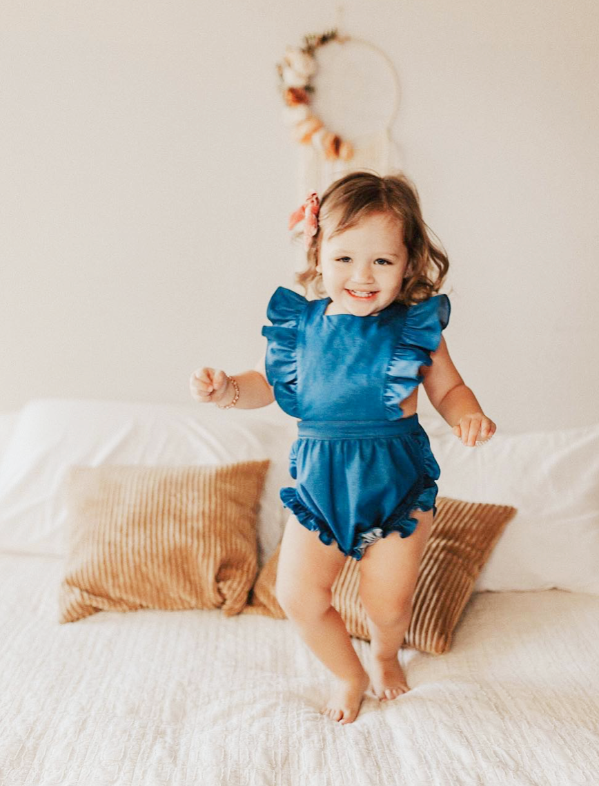 Colette Denim Pinafore Romper