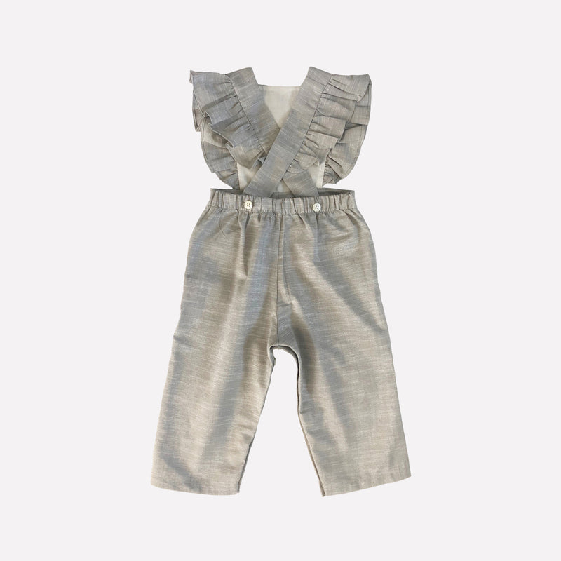 Colette Sparkly Linen Pinafore Overalls