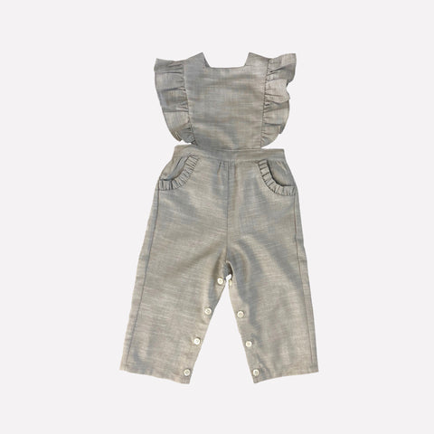 Colette Striped Linen Pinafore Overalls