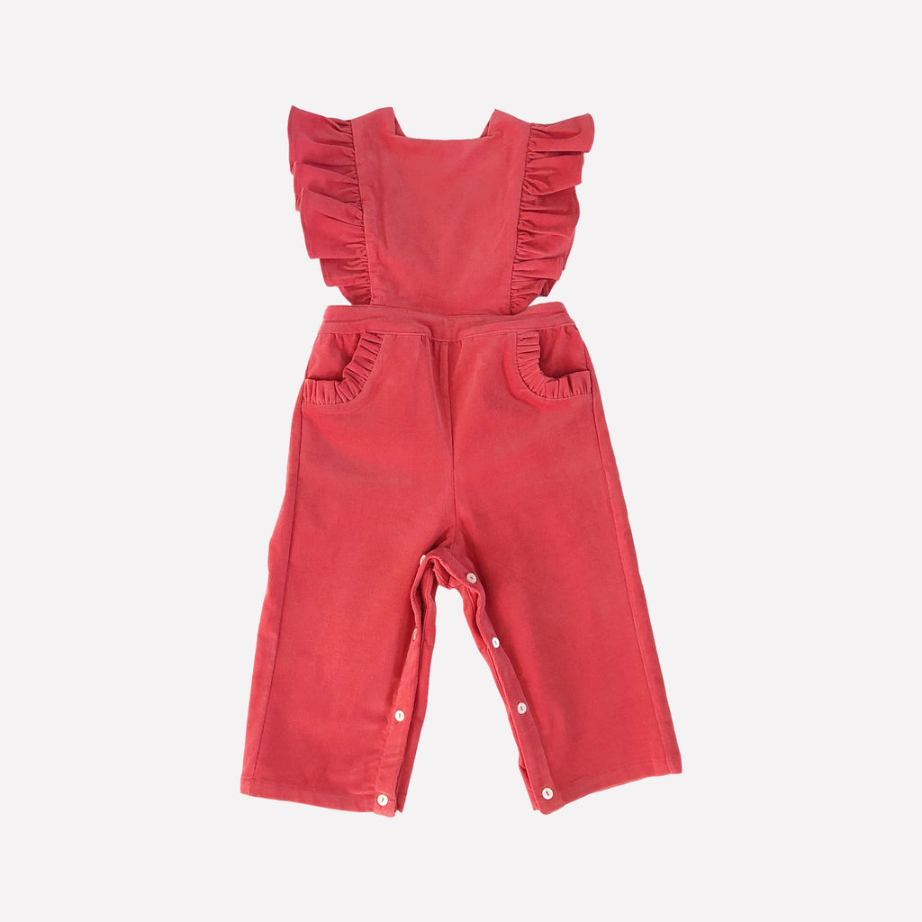 Colette Pink Corduroy Pinafore Overalls