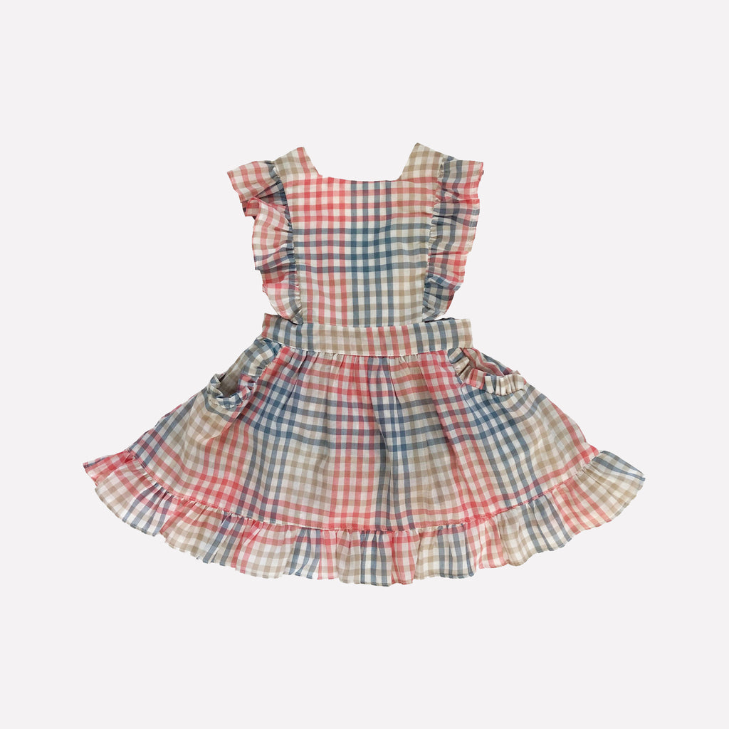 Colette Picnic Plaid Pinafore Dress
