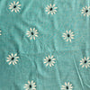 Custom Vintage Item - Teal Flocked Daisies
