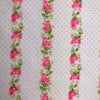 Custom Vintage Item - Pink Roses & Flocked Dots