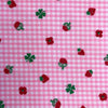 Custom Vintage Item - Pink Flocked Dots