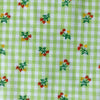 Custom Vintage Item - Flocked Gingham Love Peppers