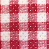 Custom Vintage Item - Pink Gingham Flocked Floral #2
