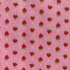 Custom Vintage Item - Itty Bitty Pink Flocked Dots